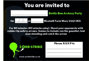 Zorb Strike Invitations Battle Bow